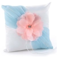 Pretty Petals Pastel Wedding Ring Pillow