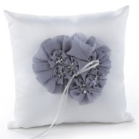 Glamorous Grey Wedding Ring Pillow