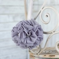 Glamorous Grey Wedding Kissing Ball