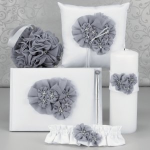 Glamorous Grey Wedding Accessory Set image