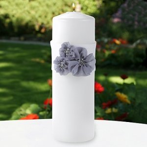 Glamorous Grey Wedding Unity Candle with Wrap image
