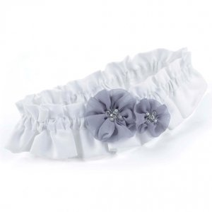 Glamorous Grey Bridal Wedding Garter image