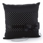 Black & White Polka Dot Ring Bearer Pillow