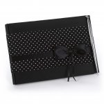 Polka Dot Wedding Guest Book with Pen