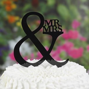 Mr & Mrs Cake Pick Topper image