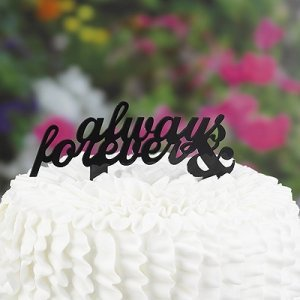 Always & Forever Cake Pick Topper image