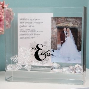 Mr. & Mrs. Wedding Wish Box and Keepsake Frame image
