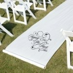 White Happily Ever After Wedding Aisle Runner