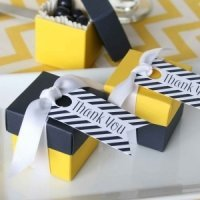 Navy Stripe Thank You Favor Cards (Set of 25)