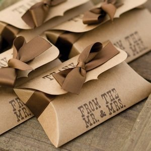 Country Western Wedding Pillow Favor Boxes (Set of 25) image
