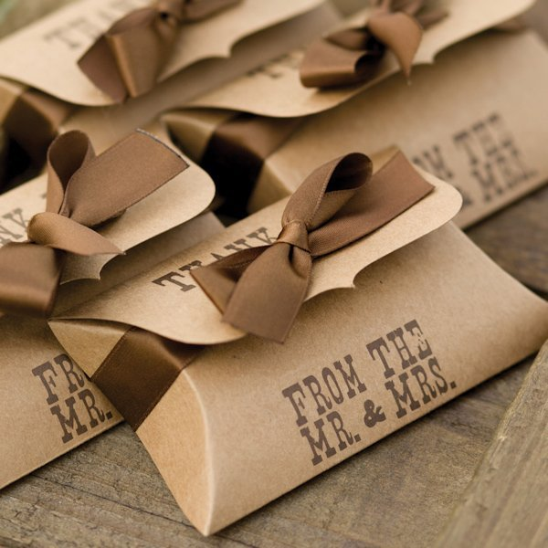 Country Western Wedding Pillow Favor Boxes Set Of 25