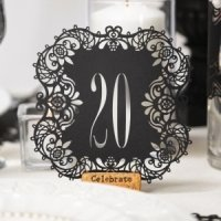 Black Laser Cut Table Number Cards
