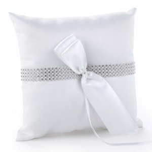 Bling Wedding Ring Bearer Pillow image