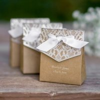Natural Vintage Tent Boxes (Set of 25)