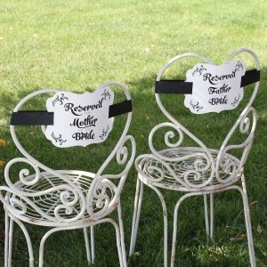 Reserved Chair Decorations - Parents of Bride image