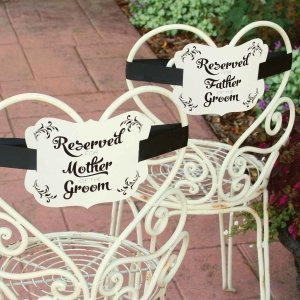 Reserved Chair Decorations - Parents of Groom image