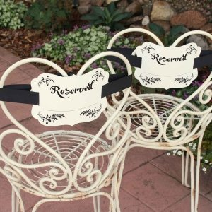 Reserved Chair Decorations - Fill in the Blank image