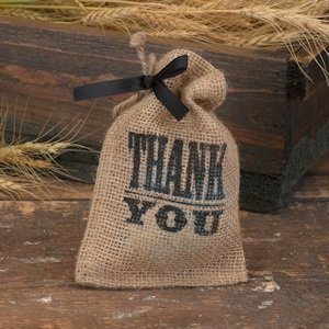 Small Burlap Gift Bags - Thank You Design (Set of 25) image