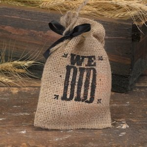 We Did Burlap Sack Wedding Favors (Set of 25) image