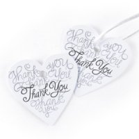 Heartfelt Thank You Favor Tag Cards (Set of 25)