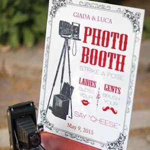 Personalized Vintage Photo Booth Sign image