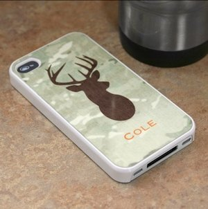 Personalized Green Camo iPhone 4 Cover image