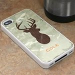 Personalized Green Camo iPhone 4 Cover