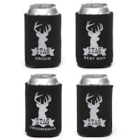 Stag Series Bridal Party Koozies (4 Designs)