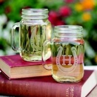 Personalized Horseshoe Mason Jar