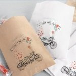 Personalized Bike Wedding Candy Buffet Bags (Set of 50)