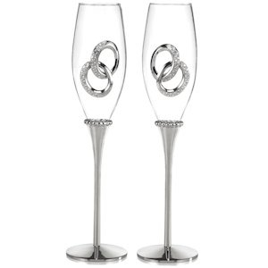 Two Rings Wedding Toast Flutes image