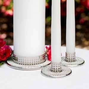 Vintage Pearl Wedding Unity Candle Stands image