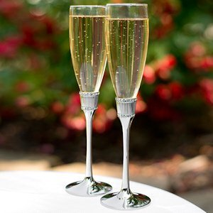 Romanesque Wedding Flute Glasses image