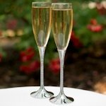 Zippered Elegance Champagne Toasting Glasses