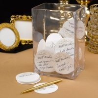 Golden Elegance Mini Advice Cards (Set of 25)