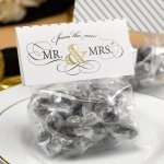 Golden Elegance Mr. & Mrs. Treat Toppers (Set of 25)