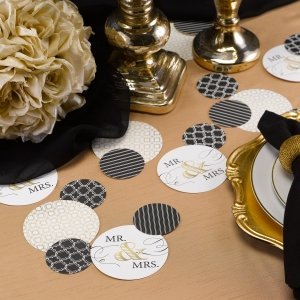 Golden Elegance Mr. & Mrs. Table Decorations (32 Pieces) image