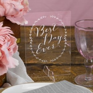 Rustic Vines Best Day Ever Sign image