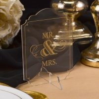 Golden Elegance Mr. & Mrs. Sign