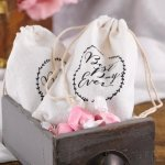Rustic Vines Cotton Favor Bags (Set of 25)