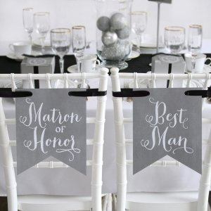Charming Vintage Signs - Matron of Honor & Best Man image
