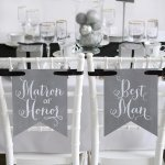 Charming Vintage Signs - Matron of Honor & Best Man