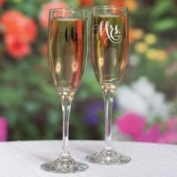 Elegant Mr. and Mrs. Toasting Flutes Set