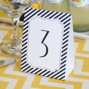 Navy Stripe Table Number Tents (1-40) image