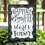 Happily Ever After Wedding Yard Sign
