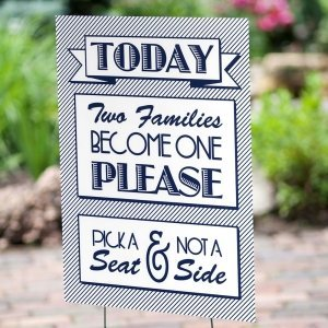 Two Become One Wedding Yard Sign image