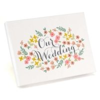 Retro Floral Wedding Guest Book