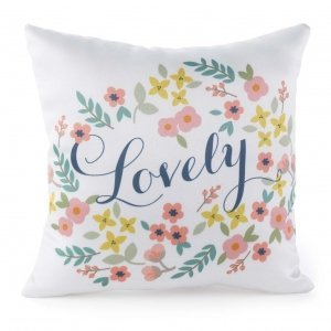 Lovely Retro Floral Pillow image