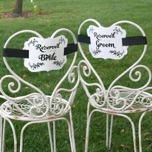 Reserved Chair Decorations - Bride & Groom image