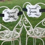 Reserved Chair Decorations - Bride & Groom